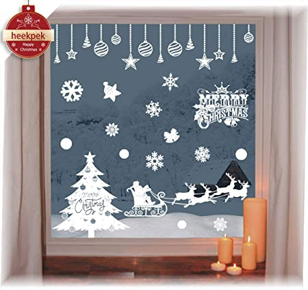 Small Christmas Pack Window Stickers Reusable Christmas Decorations Static Cling