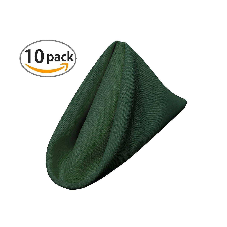 LA Linen 100-Percent Polyester Poplin Napkins, 17-Inch by 17-Inch, Burgundy, 10-Pack 1717Pop_Pk10_Burgundy117