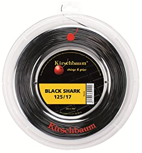 Kirschbaum Reel Black Shark Tennis String, 1.25mm/17-Gauge, Black