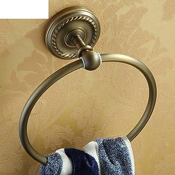Amazon.com: ZXS Antique towel ring,Solid brass towel rack,Bath towel ...