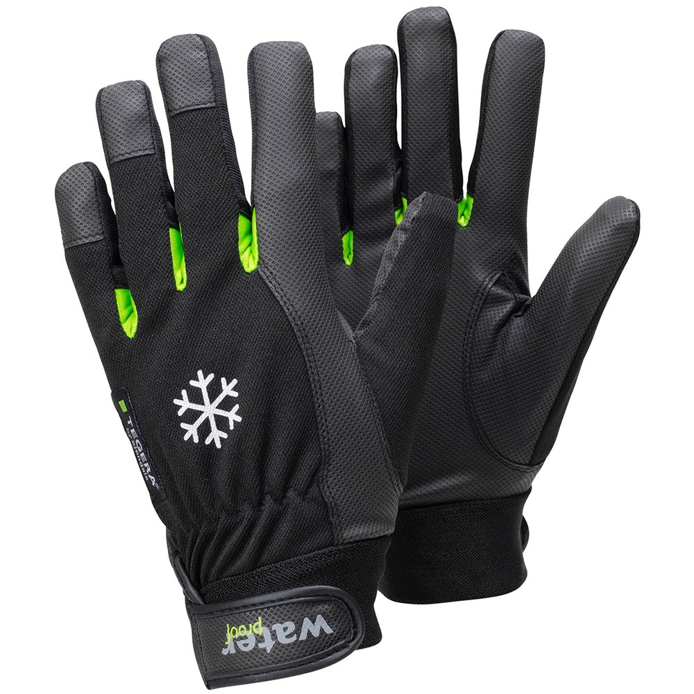 Ejendals 517-11 Size 11'Tegera 517' Synthetic Leather Glove - Black/Green