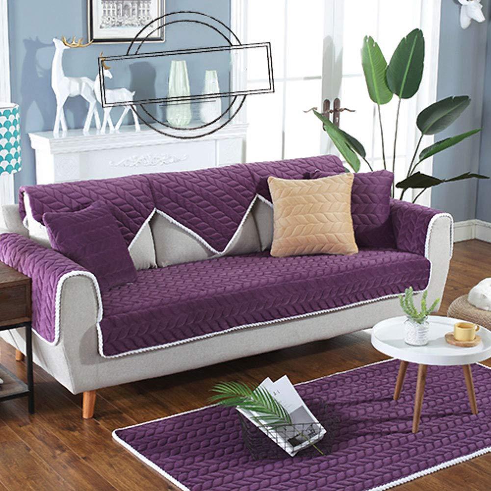 Amazon.com: SANDM Anti-Slip Plush Sofa Cover Sofa Cover 3 ...