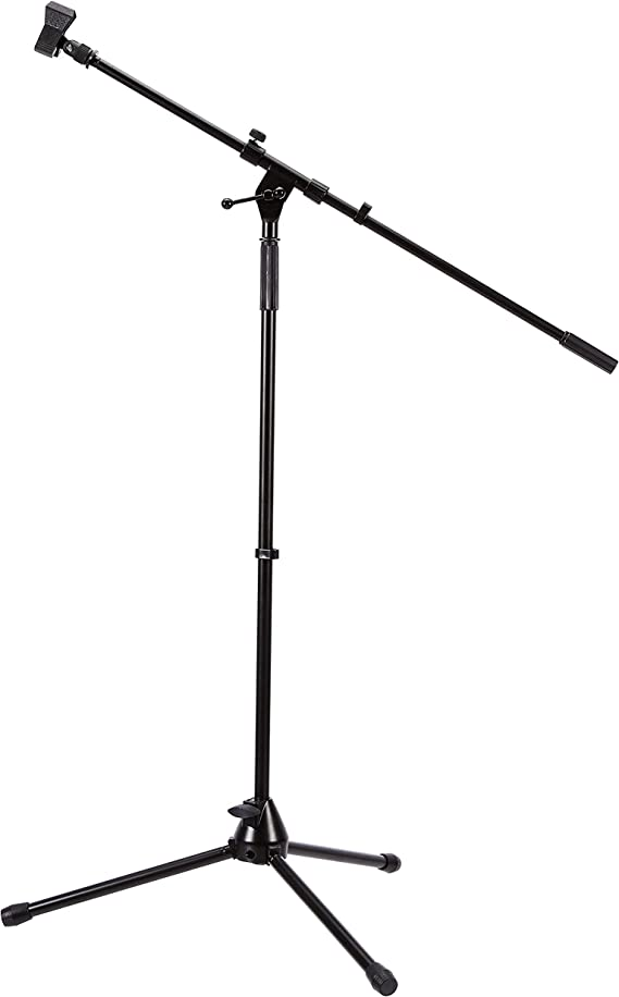 AmazonBasics Tripod Boom Microphone Stand - Height-Adjustable with Metal Base - 3.3 - 5.6-Foot