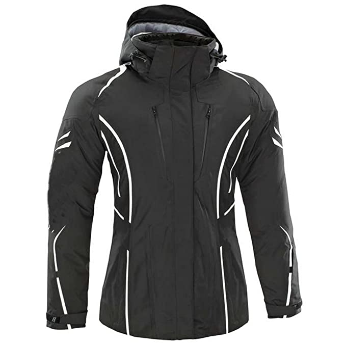 newfacelook Mujer Señoras Moto Impermeable Chaqueta Protectora