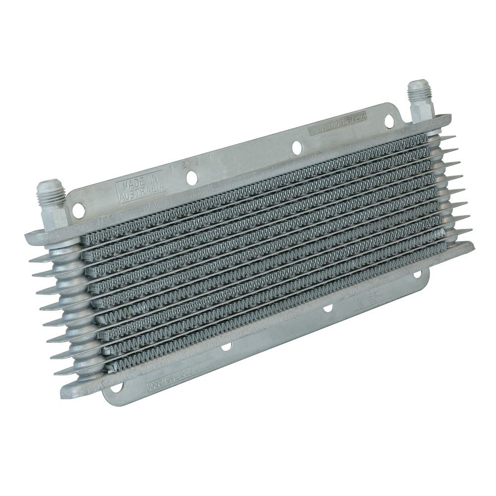 Flex-a-lite 400008 Stacked Plate 8-Row Transmission Cooler, (11 x 3 5/32 x 3/4 with-6 an Fittings) 400008