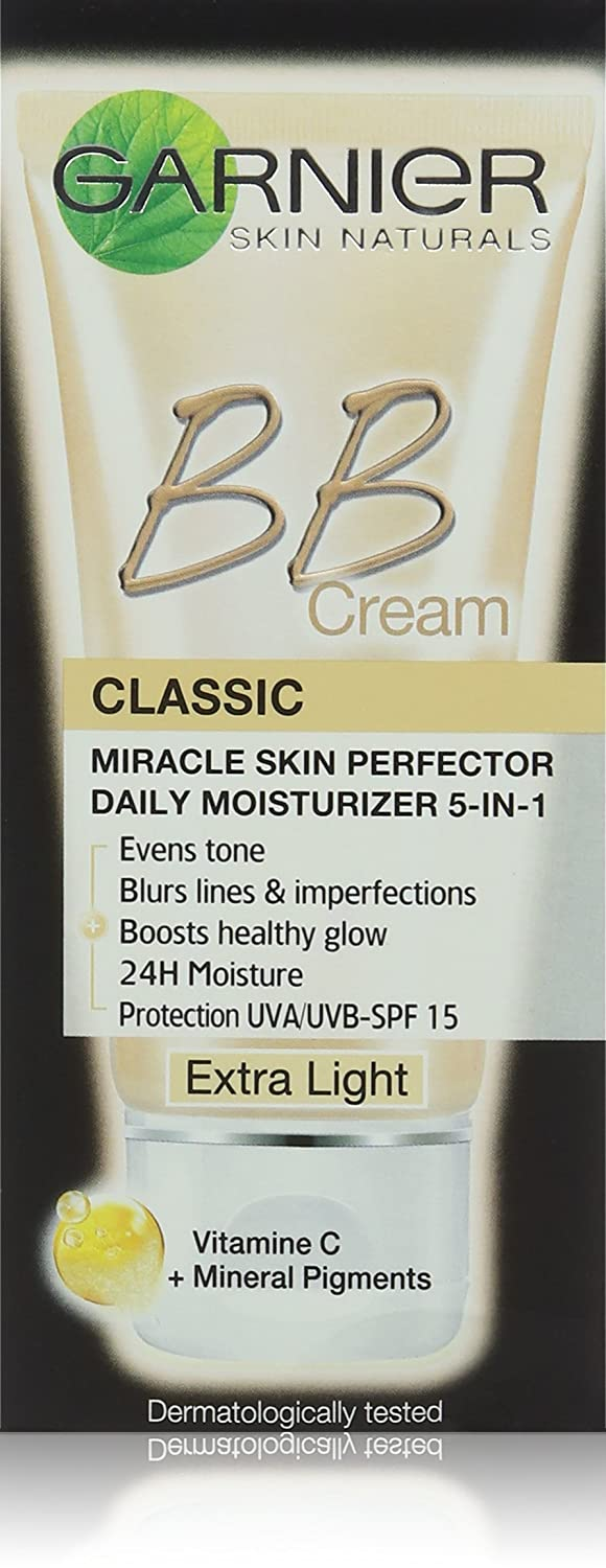 Garnier Classic Miracle Skin Perfector BB Cream, extra Light con SPF 15 50 ml 526662/53-4