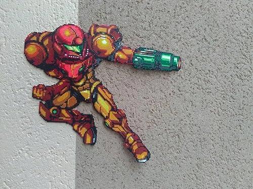 Amazon.com: Sprite Samus Aran - Metroid prime - Hama beads ...