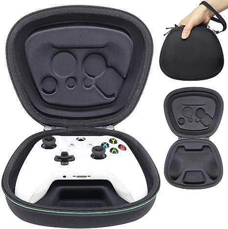 Sisma Funda rigida para Mando wireless Xbox One - Estuche de transporte para guardar y proteger Gamepad original de Xbox One S o One X, color negro: Amazon.es: Videojuegos