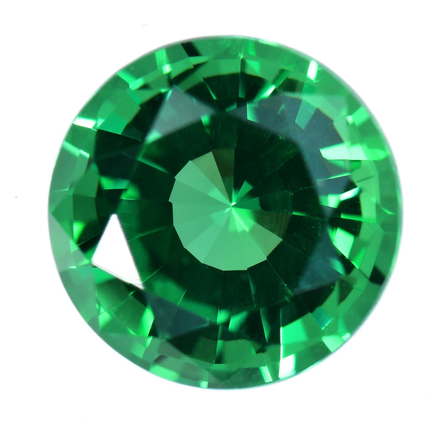 uGems Simulated Emerald Faceted Cut Loose Stone Round 6mm