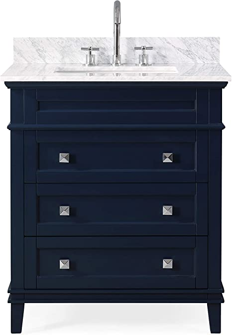 Amazon Com 30 Felix Modern Style Navy Blue Bathroom Vanity 1810 V30nb Bs Kitchen Dining