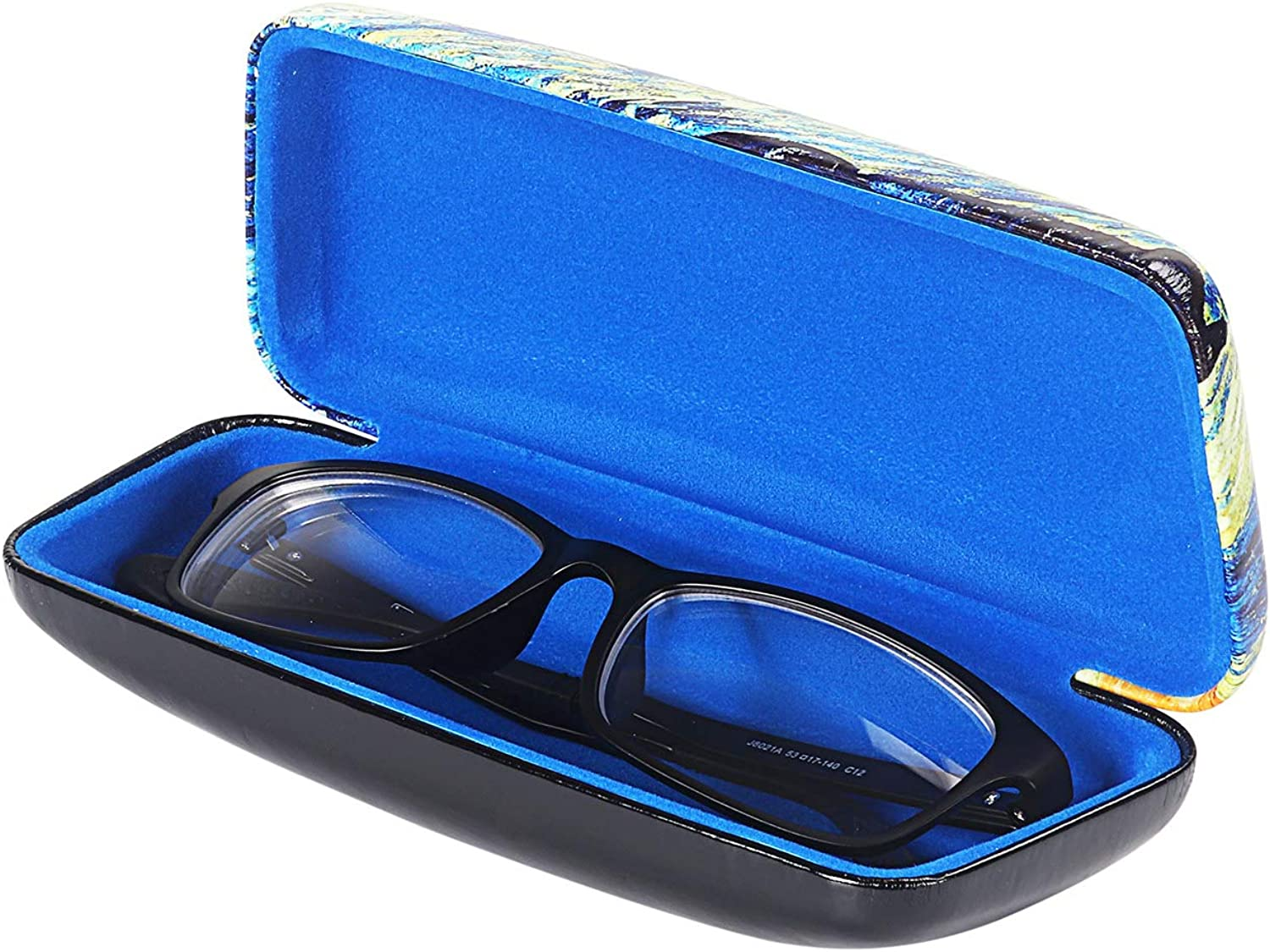 Protects Eyewear from Damages 2 Pack, Black Slip In Glasses Case Sleeve with Pocket Clip