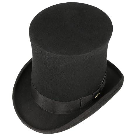 Sombrero de Copa Alta High Crown Fieltro lanasombrero Cilindro (L (58-59  cm) - Negro)  Amazon.es  Ropa y accesorios de72f2a4f6d