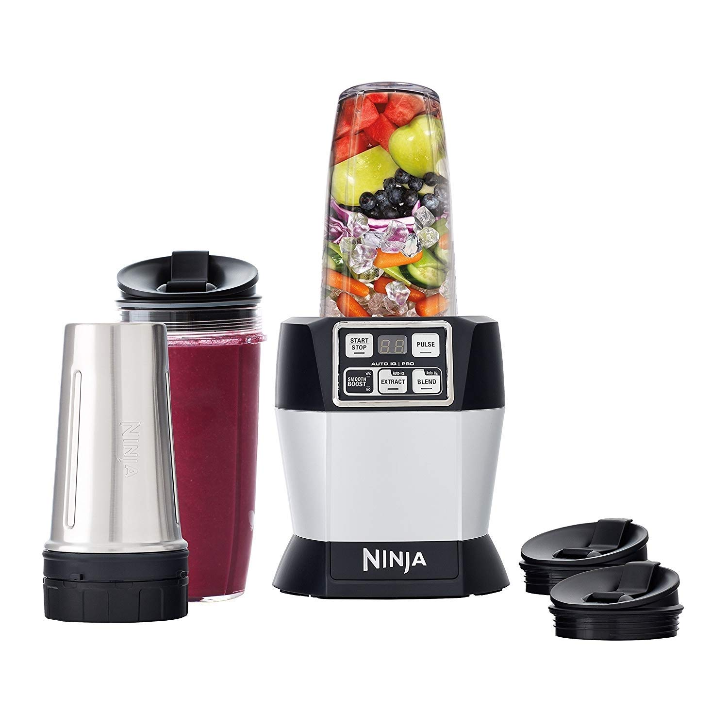 Nutri Ninja BL487T Auto-iQ Pro Complete Blender 1100 Watts, Black (Renewed)