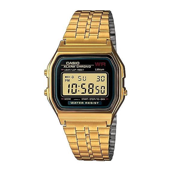 Casio a159wgea-1/a159wgea-1 estándar digital oro unisex reloj reloj: Amazon.es: Relojes