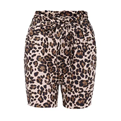 Elastic Casual Print ShortsFineser High Waist Women Leopard nwPk8OXN0