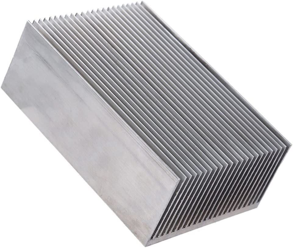 AYNEFY Heat Sink Aluminum Heatsink Module Professional Easy to use Heatsink Module Cooler for LED Amplifier Transistor IC Module Semiconductor Devices 100 x 69 x 36mm//3.93 x 2.71 x 1.41inch
