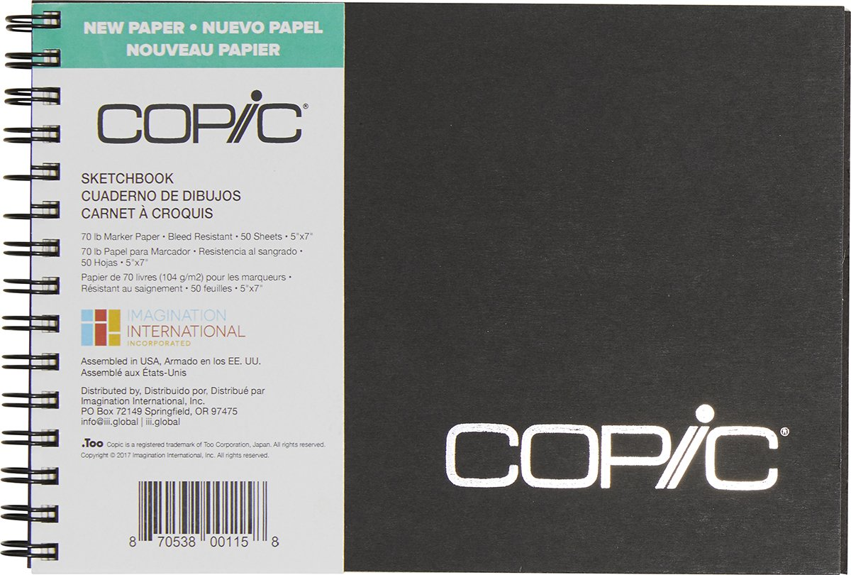 Copic Marker Sketchbook, 5 by 7-Inch, 50 Sheets by Copic Marker