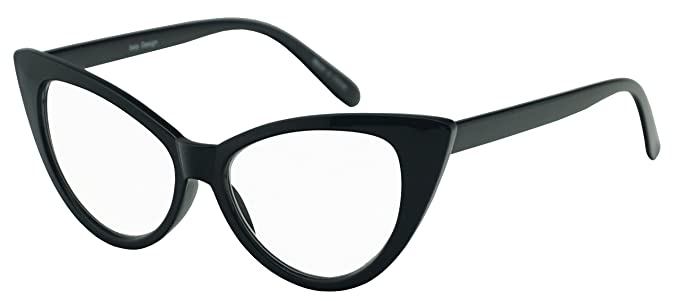 029780dc6c9a6 Women s Round Rx Optical Cat Eye Magnification Reading Readers Eye Glasses ( Black