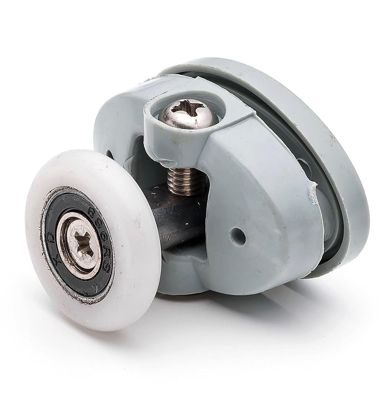 2 x Single Top Butterfly Shower Door Rollers/Runners/Wheels 25mm wheel diameter L051