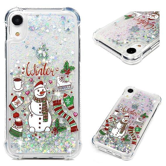Christmas Phone Case Iphone Xr.Iphone Xr Case Iphone Xr Christmas Clear Liquid Glitter