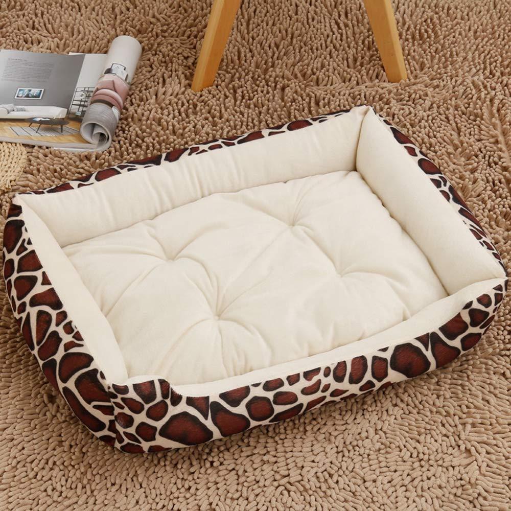 Dog Bed Pet Bed Warmer Pet Mat Winter Thick Warm Dog Blanket Cat Pad Dog Mat DualUse Pet Cushion Sofa Cushion,Leopard,S