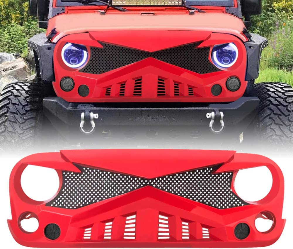 Matte Black AMERICAN MODIFIED Front Hawke Grill Grid Grille for ...