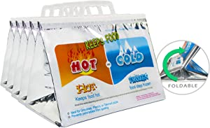 VECKLI Hot/Cold Storage Bags for Food, Reusable Thermal Insulated Lunch Bags, a Must in Hot Summer (5, 10''x13'')