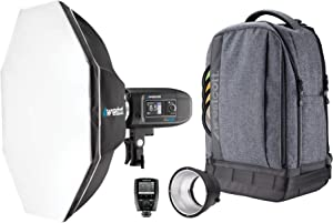Westcott FJ400 Strobe 1-Light Backpack Kit with FJ-X2m Universal Wireless Trigger and Rapid Box Switch Octa-S