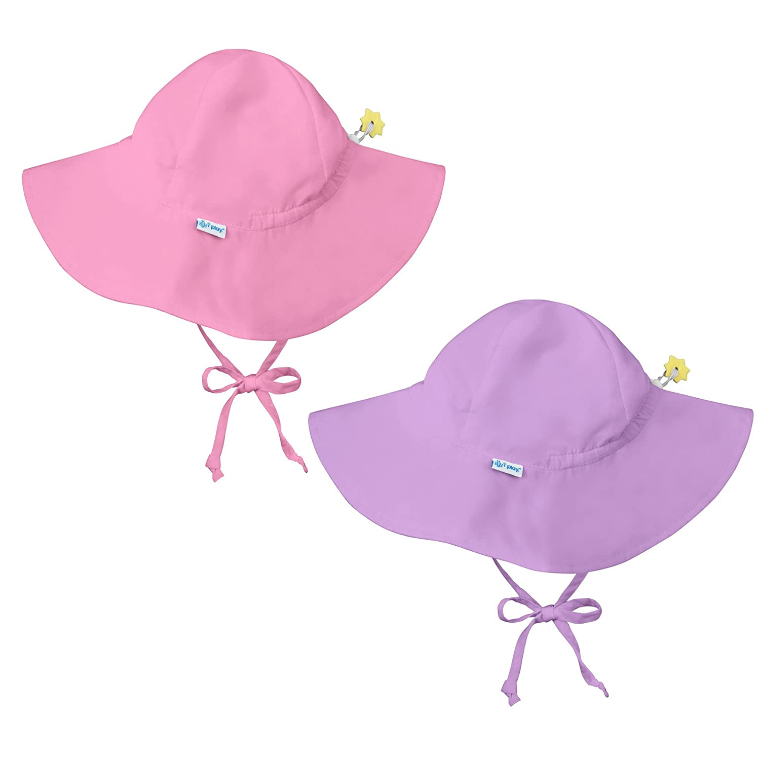6ba123b0320 Amazon.com  i play. 2 PK UPF 50+ Sun Protection Wide Brim Baby Toddler Sun  Hats Beach Hats  Clothing