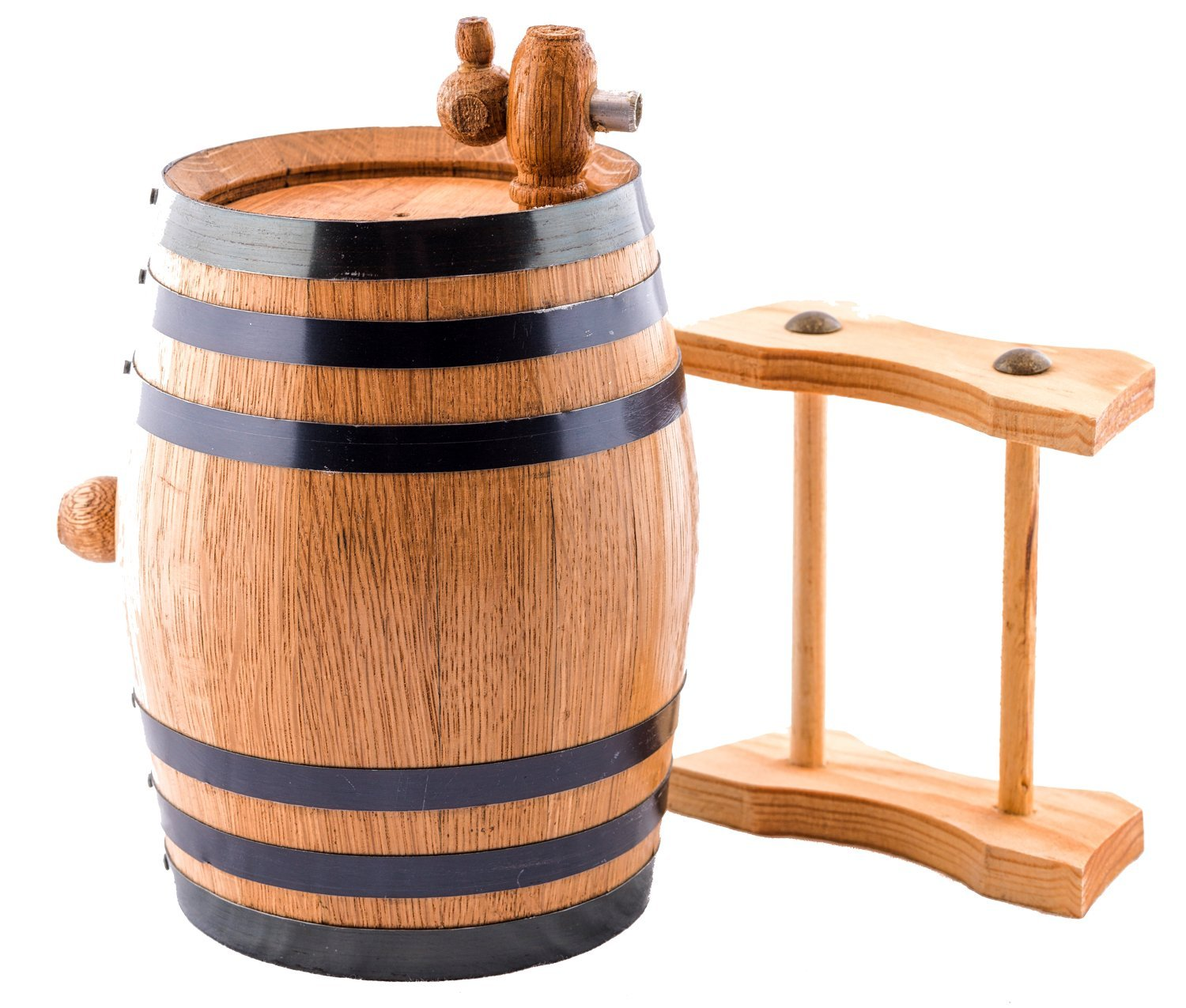 Sofia's Findings 1 Liter American Oak Aging Whiskey Barrel | Age Your own Tequila, Whiskey, Rum, Bourbon, Wine - 1 Liter or .26 Gallon Barrel by Sofia's Findings (Image #2)