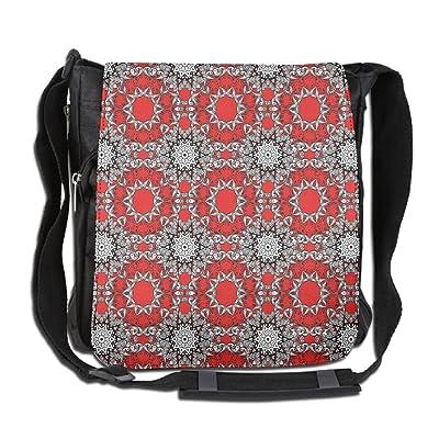 Lovebbag Doodle Flowers Swirls Tribal Ethnic Kaleidoscope Indian Style Crossbody Messenger Bag