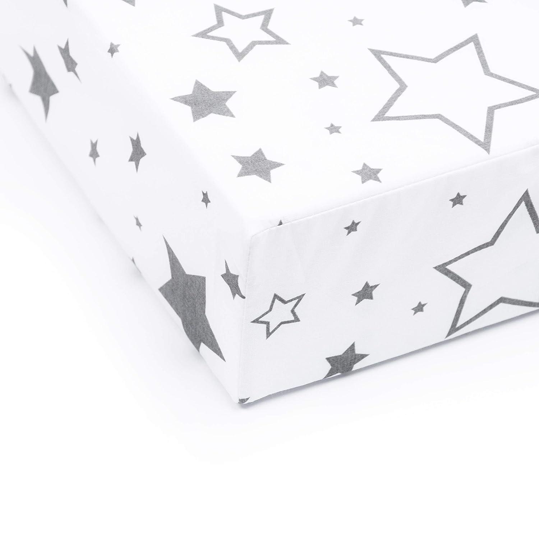 70 x 140 cm Gute Nacht Grau Amilian S/ábana Bajera Ajustable para Cuna de beb/é de 60 x 120 cm 100/% algod/ón 60 x 120 cm Disponible para beb/é