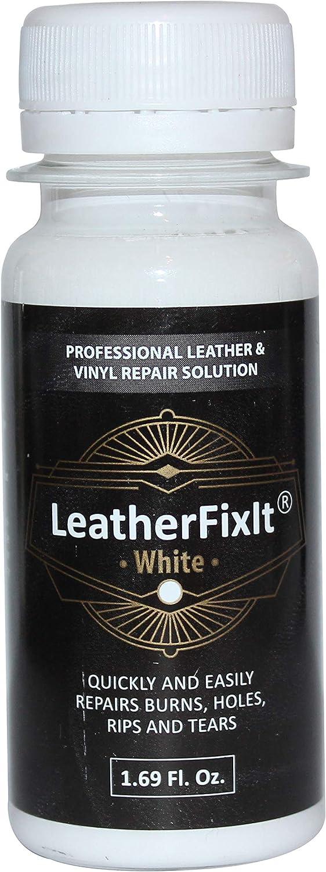 Solución de reparación de cuero blanco y vinilo | Sin calor, secado rápido | muebles, asientos de coche, sofá, silla, chaqueta, botas, cinturón y adhesivo de reparación de bolso