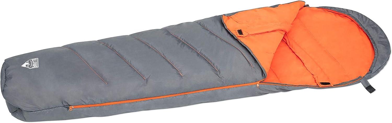 Bestway Pavillo Hiberhide 5 Mummy - Saco de dormir aislante con cabecero integrado y práctica cremallera, 230 x 80 x 60 cm