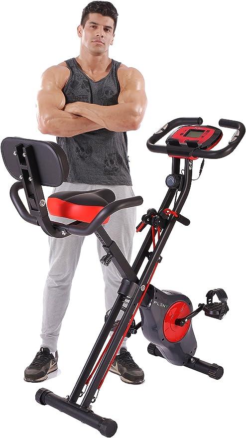 pleny - Bicicleta de ejercicios plegable, con 16 niveles de ...