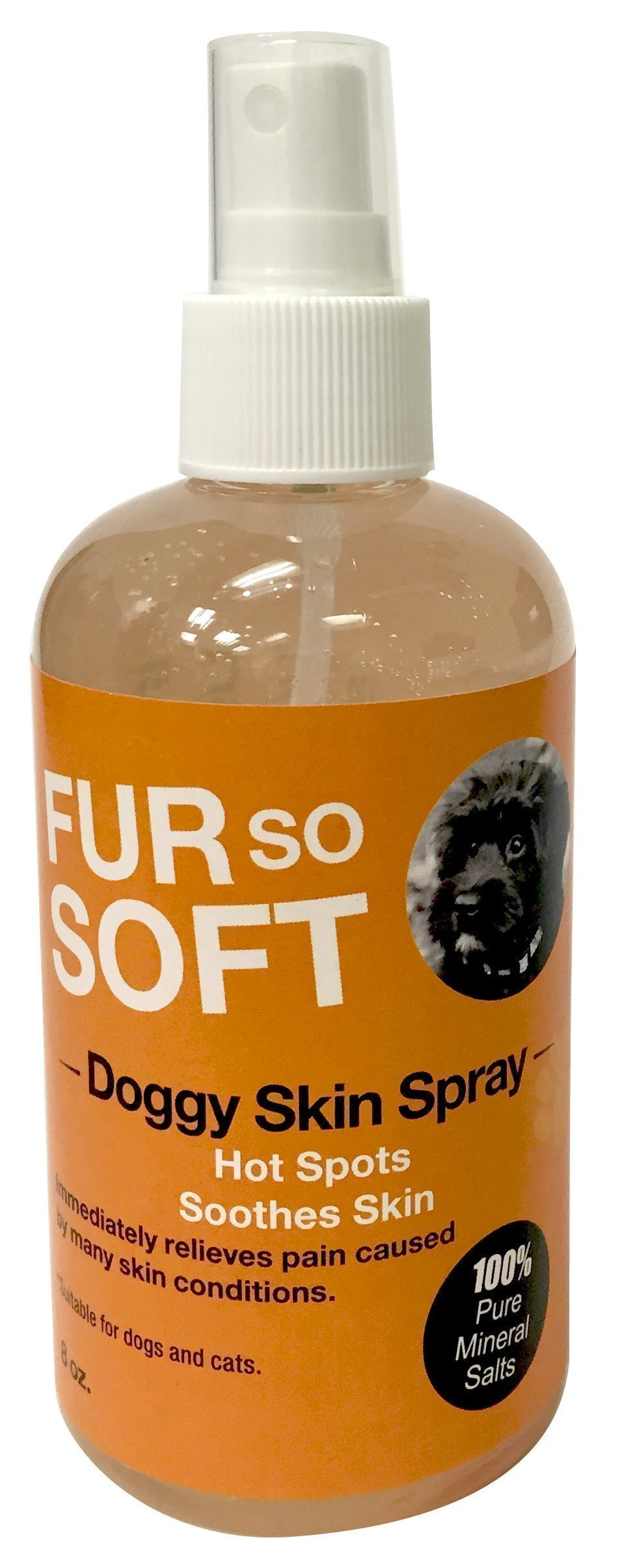 Dog Skin Spray. 100% Pure All Natural. Soothe & Calm Irritations - Hotspots - Bites - Allergies - Razer Rash - Flaky skin flare ups. Hypoallergenic. No mess, handy and easy to use.