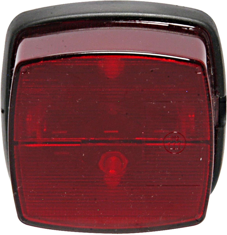 4er Set Anhänger Positionslicht Weiß Mit Reflektor Rot 60x65mm Begrenzungslicht Umrißleuchte Auto