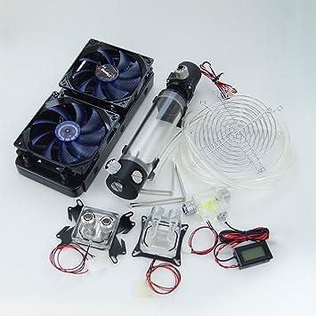 amazon h nicholas best diy 240 water cooling kit with cpu gpu