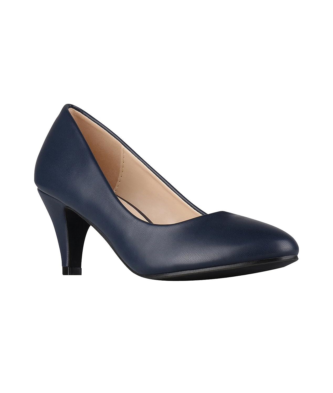 KRISP Zapatos Mujer Tacón Bajo Medio Aguja Fino Fiesta Vestir Elegante: Amazon.es: Zapatos y complementos