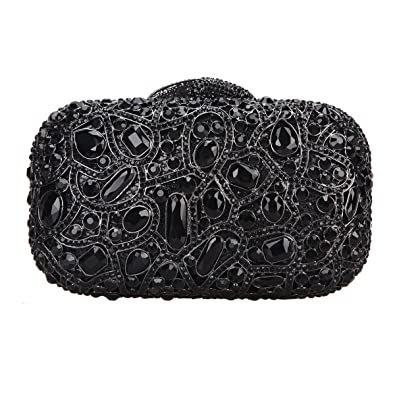 45a7071f52 Fawziya Bling Luxury Clutch Purse Handbags Womens Evening Bags-Black