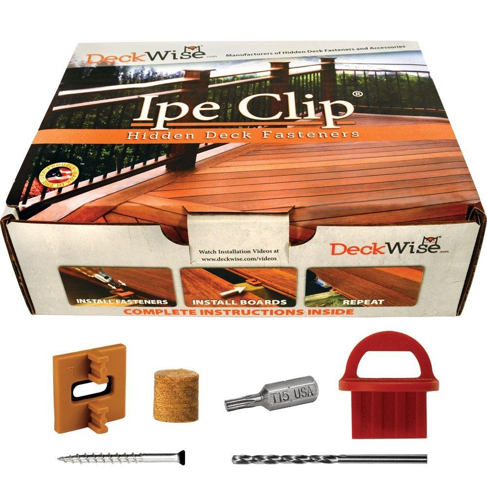 DeckWise Extreme4 Ipe Clip Brown BiscuitStyle Hidden Deck Fastener Kit Hardwoods
