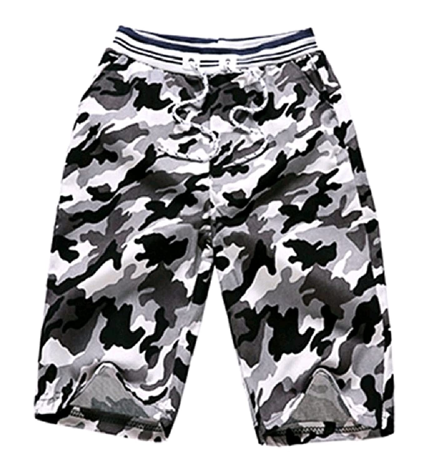 Nice Comfy-Men Active Workout Camo Relaxed Beachwear Shorts Pants Trunks free shipping