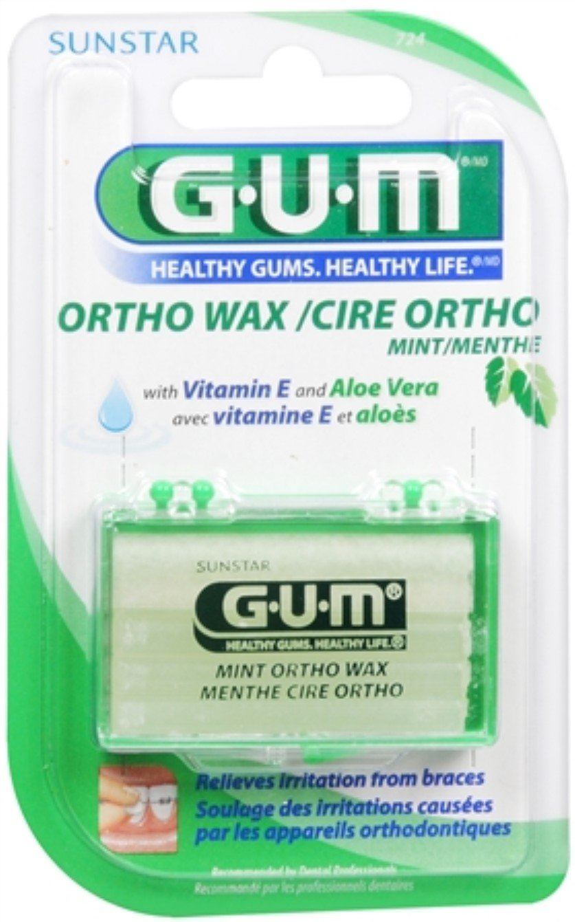 GUM Orthodontic Wax Mint [724] 1 Each (Pack of 12)