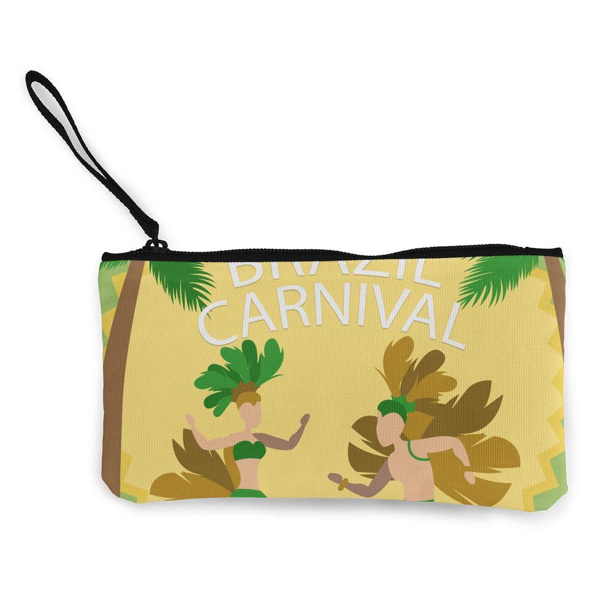 Maple Memories Mardi Gras Carnival Masquerade Portable Canvas Coin Purse Change Purse Pouch Mini Wallet Gifts For Women Girls