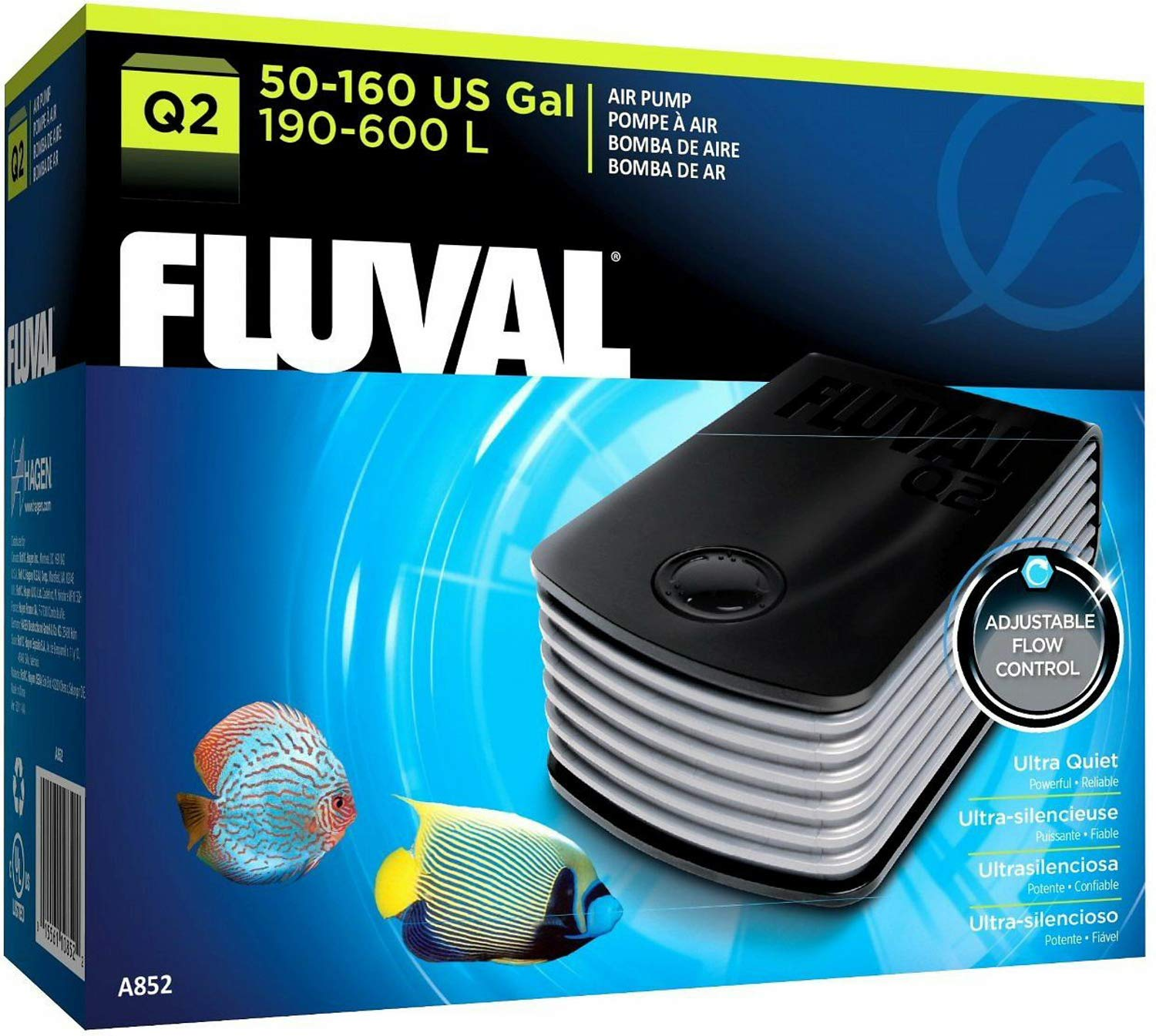Fluval Q2 Air Pump, 3 Pack by Fluval