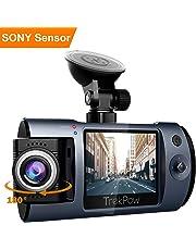 ABOX Trekpow Cámara de Coche con 180° Rotatorio Lente, TrekPow HD 1080p T1 Coche DVR, Dash CAM con Sony Sensor, 170° Gran Ángulo,Grabación en Bucle, Visión Nocturna