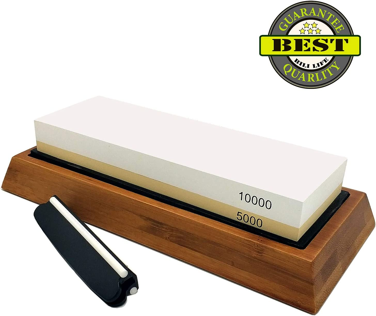 Waterstone Rubber Stone Holder Included Whetstone 5000//10000 Grit Sharpening Stone VECU 2 Side Polishing Kit Professional Waterstone Sharpener for Kitchen Cutlery and Outdoor Blades Polishing Tools