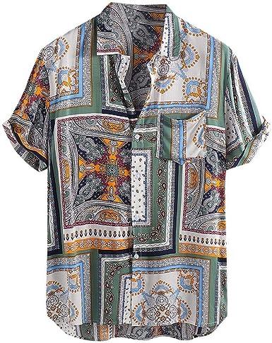 Ericcay Camisa Hawaiana Botón De La Fiesta De La Playa De La ...