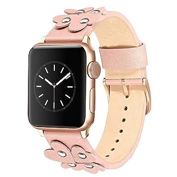 TRUMiRR pour Apple Watch Band 38mm 40mm Femmes Filles, Bracelet en Cuir  Véritable Douce Conception 827ae3db969