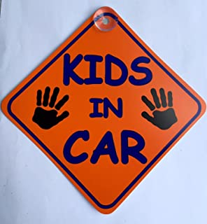 """with Sucker RED /""""Cars/"""" Child On Board Car Window Sign"""